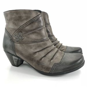 Reiker Remonte Vegan Leather Ankle Boot Distressed